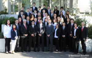 Gruppenfoto der Auszubildenden 2012