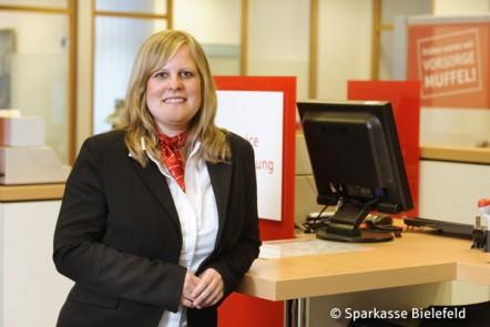 Maren Lukas ist Kundenbetreuerin im Beratungszentrum Jöllenbeck