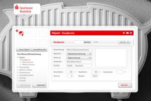 Screenshot Baufinanzierungrechner