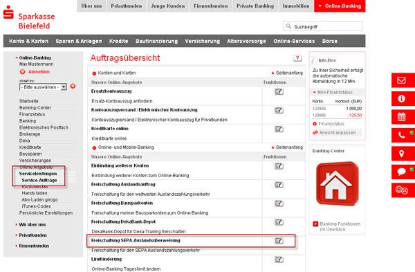 Neue Funktion Im Online Banking Sepa Auslandszahlungen Individuell Freischalten Willkommen Auf Dem Blog Der Sparkasse Bielefeld