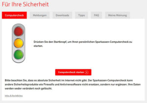 Computercheck der Sparkasse Bielefeld