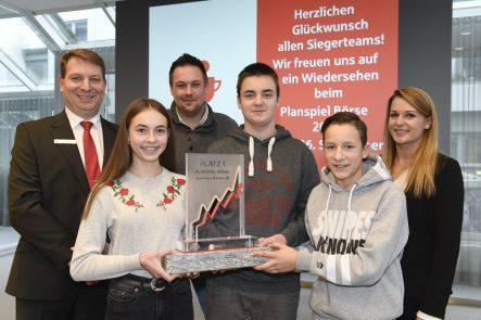Planspiel Börse 2018 - Team Die Aktien-Profis von der Realschule Heepen
