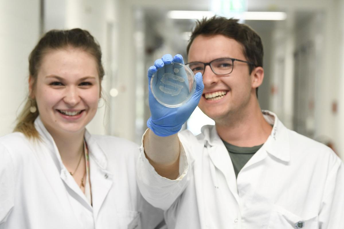 Sparkassen-S aus Ecoli-Bakterien