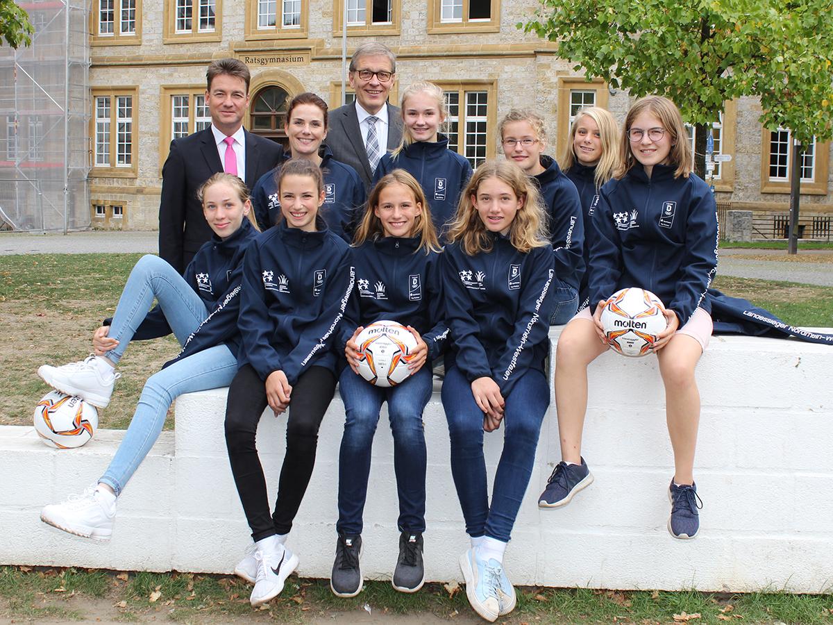 Mädchen-Fußball am Ratsgymnasium