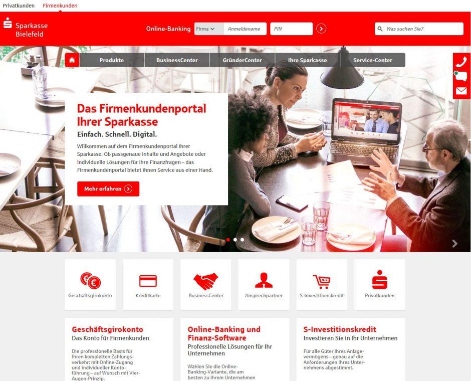 Neue Inhalte für Firmenkunden im Firmenkundenportal
