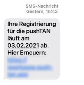 Betrügerische SMS