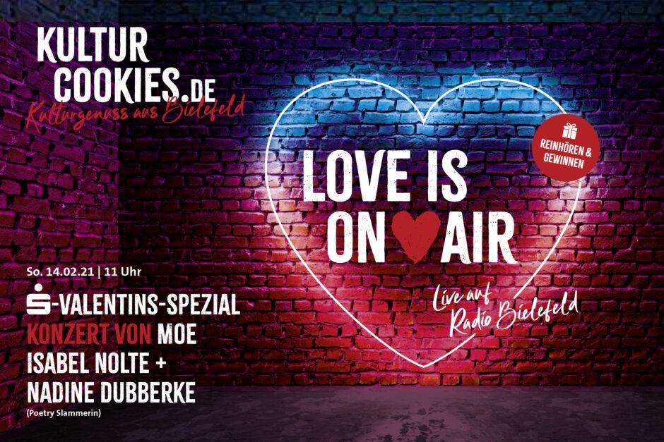 Kulturcookie-Spezial zum Valentinstag live auf Radio Bielefeld